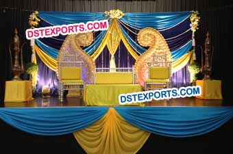 Wedding Paisley Mehndi Stage Decoration