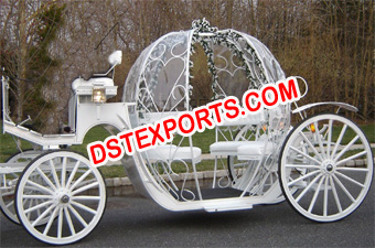 Sweet Wedding Cinderella Horse Carriage