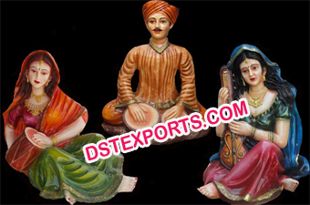 Rajasthani Wedding Fiber Statue Set