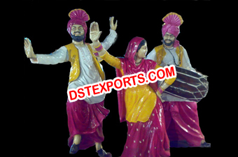 Wedding Rangla Punjab Theme Fiber Statue