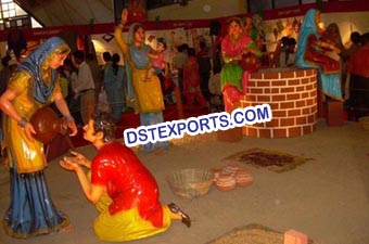 Punjabi Culture Decorated Village Theem