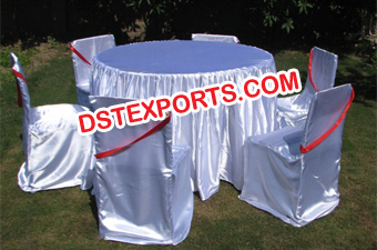 White Lycra Chair Covers And Table Clothes