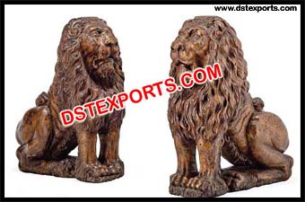 Fiber Lion Statue For Decoration