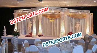 Asian Wedding Fiber Crystal Mandap/Pagoda