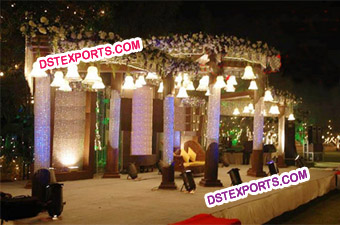 Latest Wedding Crystal Bells Mandap Set