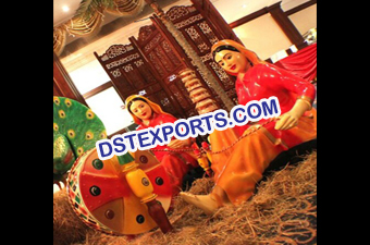 Punjabi Wedding Theme Statues