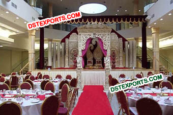 Asian Wedding Modern Stage Set