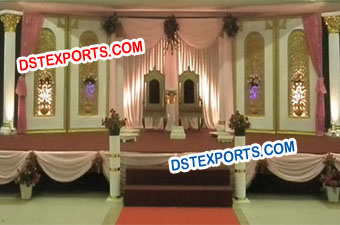 Muslim Wedding Stage Fiber Backdrop Panels