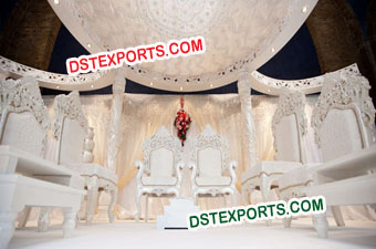 Heavy Carving Wedding Mandap Chairs Set