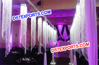 Wedding Hanging Crystal Aisleway Pillars
