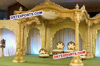 Indian Wedding Traditional Wooden Carved Mandap