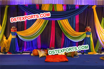 Punjabi Wedding Colourful Theme Stage