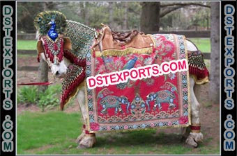 Gujrati Wedding Horse Costume Decoration