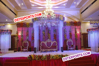 Indian Wedding Hanging Crystal Mandap For Wedding