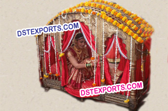 Golden Dulhan Doli For Wedding