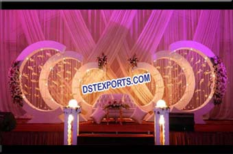 Exclusive Wedding Stage Backdrop Decoration