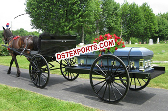 Commercial Funeral Horse Darwn Hearse