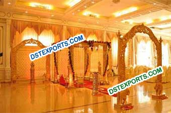 Newly Wedding Hand Carved Wooden mandap