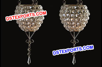Wedding Crystal Hanging Candle Holder