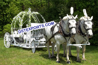 Australian Wedding Cinderella Horse Carriage