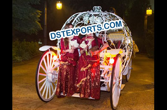 New Wedding Lighted Cinderella Horse Carriage
