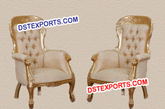 Wedding Best Chairs Set With Tufted Seat