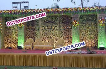 Indian Wedding Carved Panels Backdrop