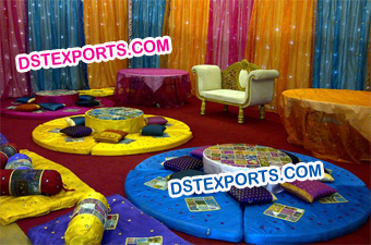 Punjabi Wedding Mehndi Stage Set Decoration