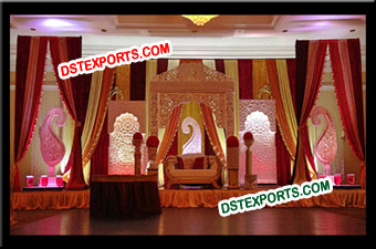 Wedding Designer Lighted Pillar Stage Set