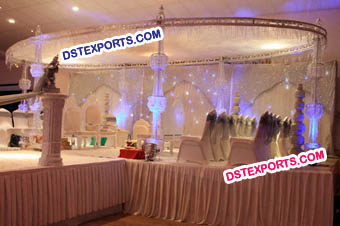 Wedding Oval Crystal Mandap Set