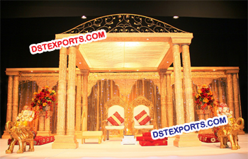 Royal Wedding Crown Mandap Set