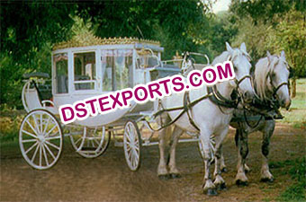 Wedding Cinerella Covered White Carriage