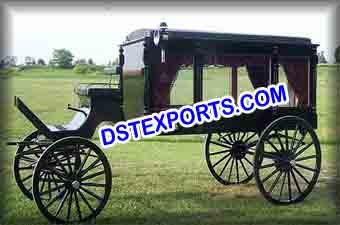 Royal Funeral Black Horse Carriage