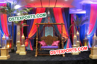 Indian Wedding Swing Stage Decoration