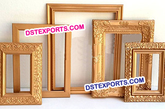 Wedding Stage Gold Photo Frame Panels