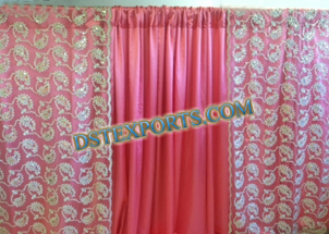 WEDDING STAGE CORAL BACKDROPS