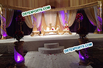 Elegent Muslim Wedding Crystal Stage Set