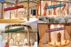 WEDDING SPIRAL WOODEN MANDAP SET