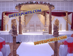 WEDDING WOODEN SPIRAL MANDAP