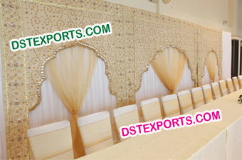 Latest Wedding Stage Arch Embroidered Backdrop