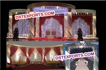 Wedding Spiral Crystal Mandap Set Decoration