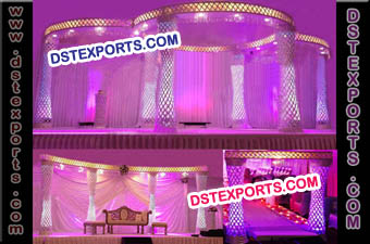 Latest Wedding Fiber Crystal Mandap Set