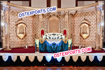 Asian Wedding Crystal Stage