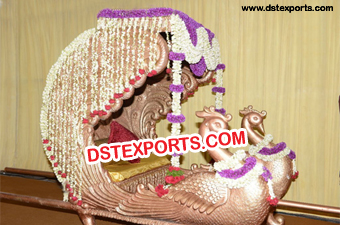 Decorated Swan Doli For Wedding