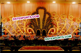 Latest Wedding Stage Flowered Backdrops
