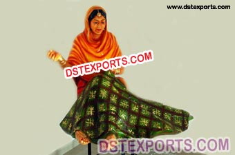 Traditional Punjabi Lady Phulkari Statue