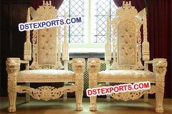 Wedding Lavish Bride Groom Lion Chairs