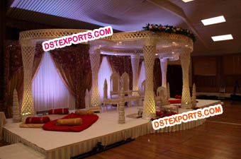 Wedding Crystal Mandap With Crystal Balls Mandap