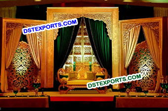 Indian Wedding Hand Carved Backdrop Panels Stage