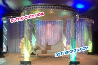 Lighting Wedding Crystal Mandap